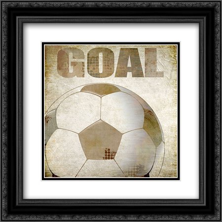 Goal 2x Matted 20x20 Black Ornate Framed Art Print by Kimberly,