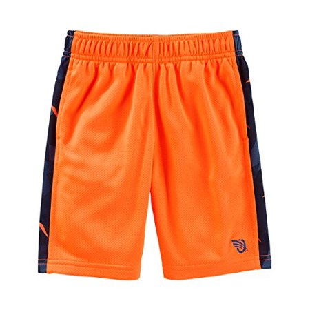b24ebd3d0 OshKosh B'Gosh - Oshkosh B'gosh Big Boys; Active Mesh Shorts Print Side  Stripe; Orange (10 Kids) - Walmart.com