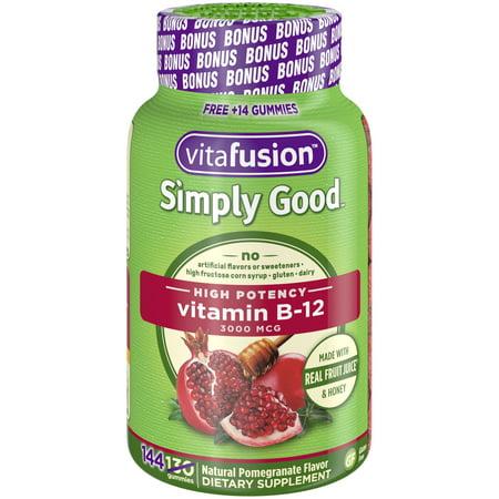 Vitafusion Simply Good B12 Gummy Vitamins, 144ct ()