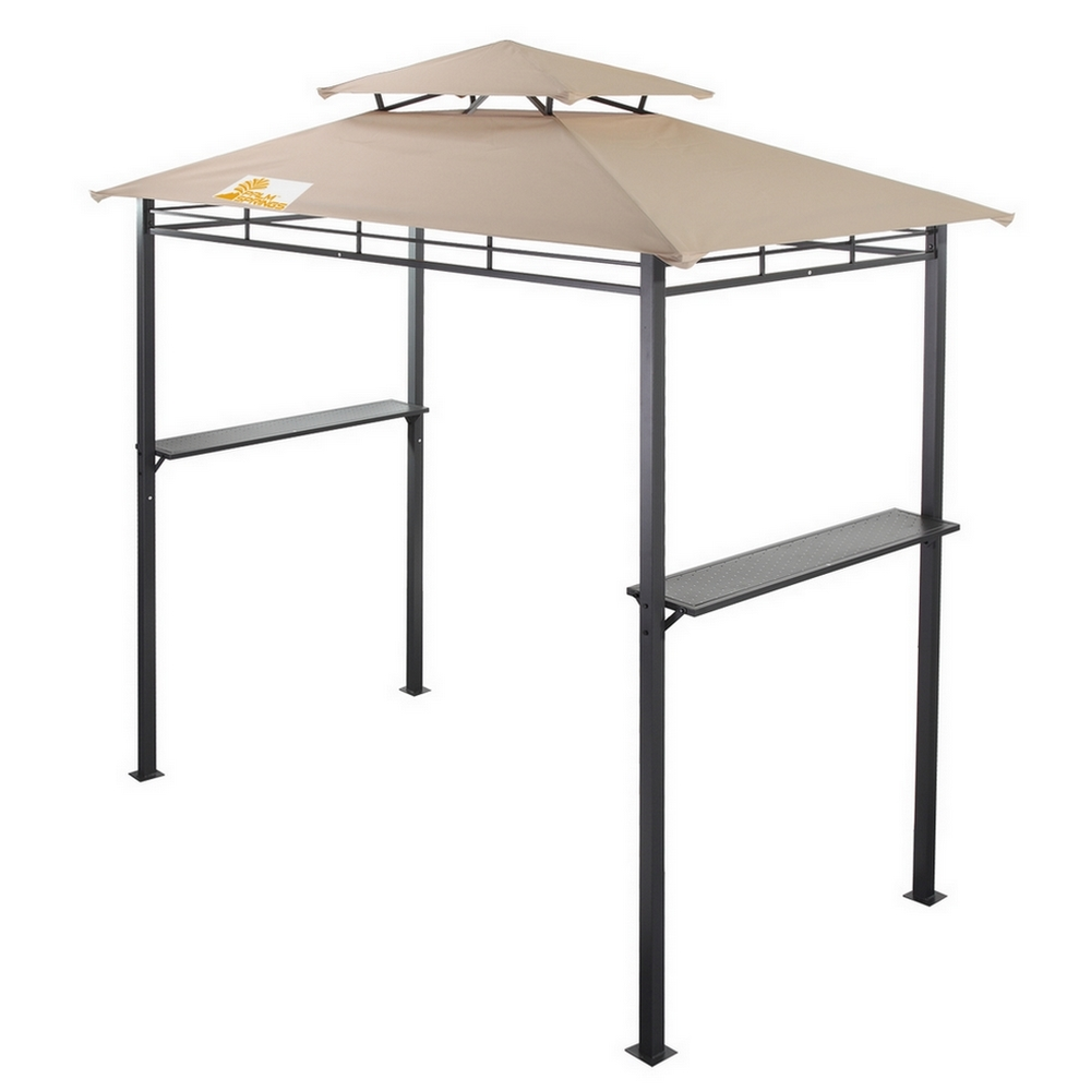 palm springs deluxe 8ft doubletier barbecue canopy bbq grill tent