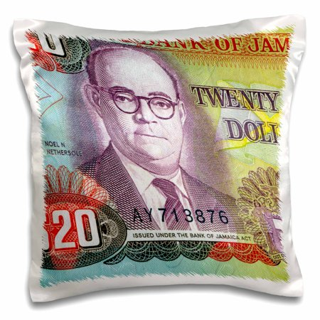 Dollar Bill Cake (3dRose Jamaica Jamaican money dollar currency bank note bill cash - Pillow Case, 16 by)