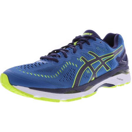 Asics Men's Gel-Kayano 23 Thunder Blue / Safety Yellow Indigo Ankle-High Running Shoe - 15M - Indigo Shoes Com
