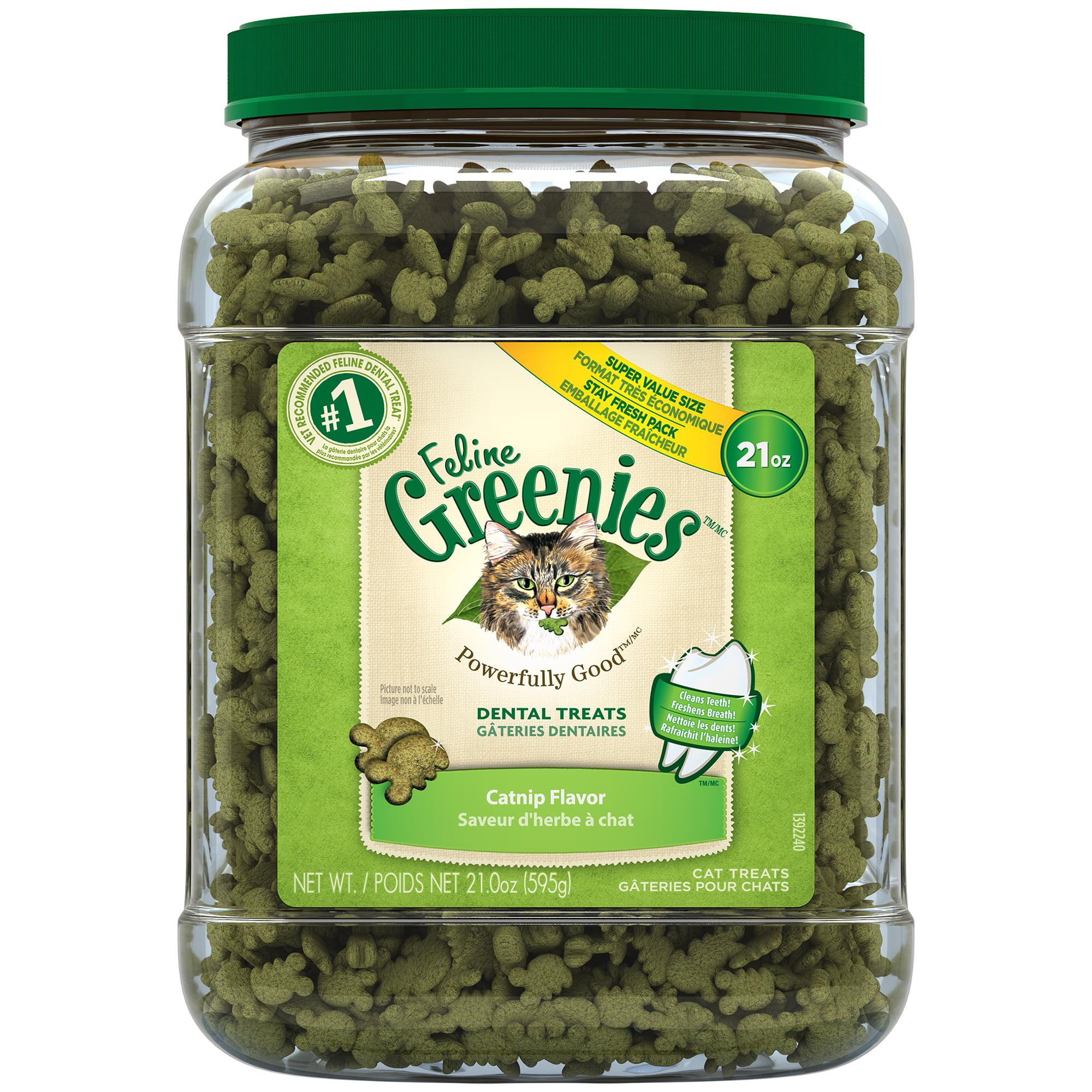Greenies Feline Dental Cat Treats Catnip Flavor, 21 oz. Tub by Mars Petcare