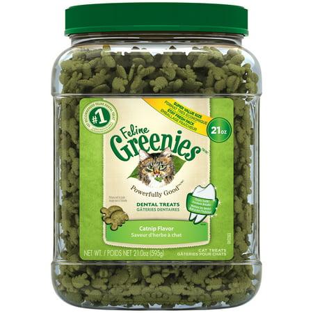 Greenies Feline Dental Cat Treats Catnip Flavor, 21 oz. Tub