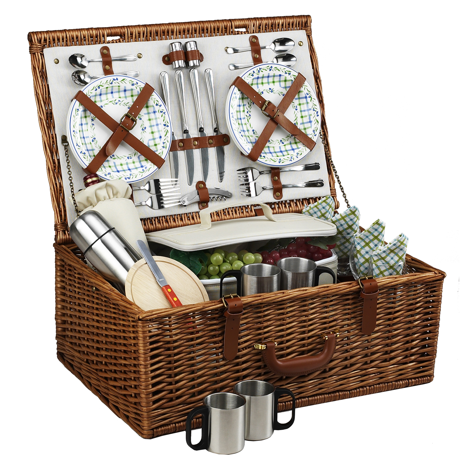 Picnic At Ascot Dorset Basket for Four with Coffee Service in Gazebo
