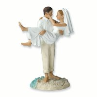 Lillian Rose Just Married Beach Couple Figurine/cake Topper