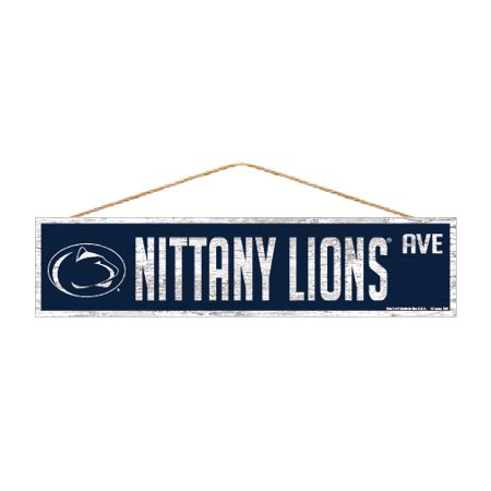Penn State Nittany Lions Official NCAA Wood Street Wall Sign 4x17 by Wincraft 901231