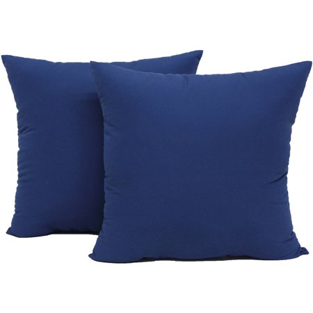 Mainstays Microfiber Twill Accent Decorative Throw Pillow 17 X Navy 2 Pack