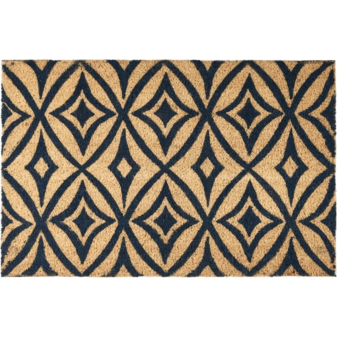 """Waverly Greetings """"Centro"""" Navy Doormat by Nourison"""