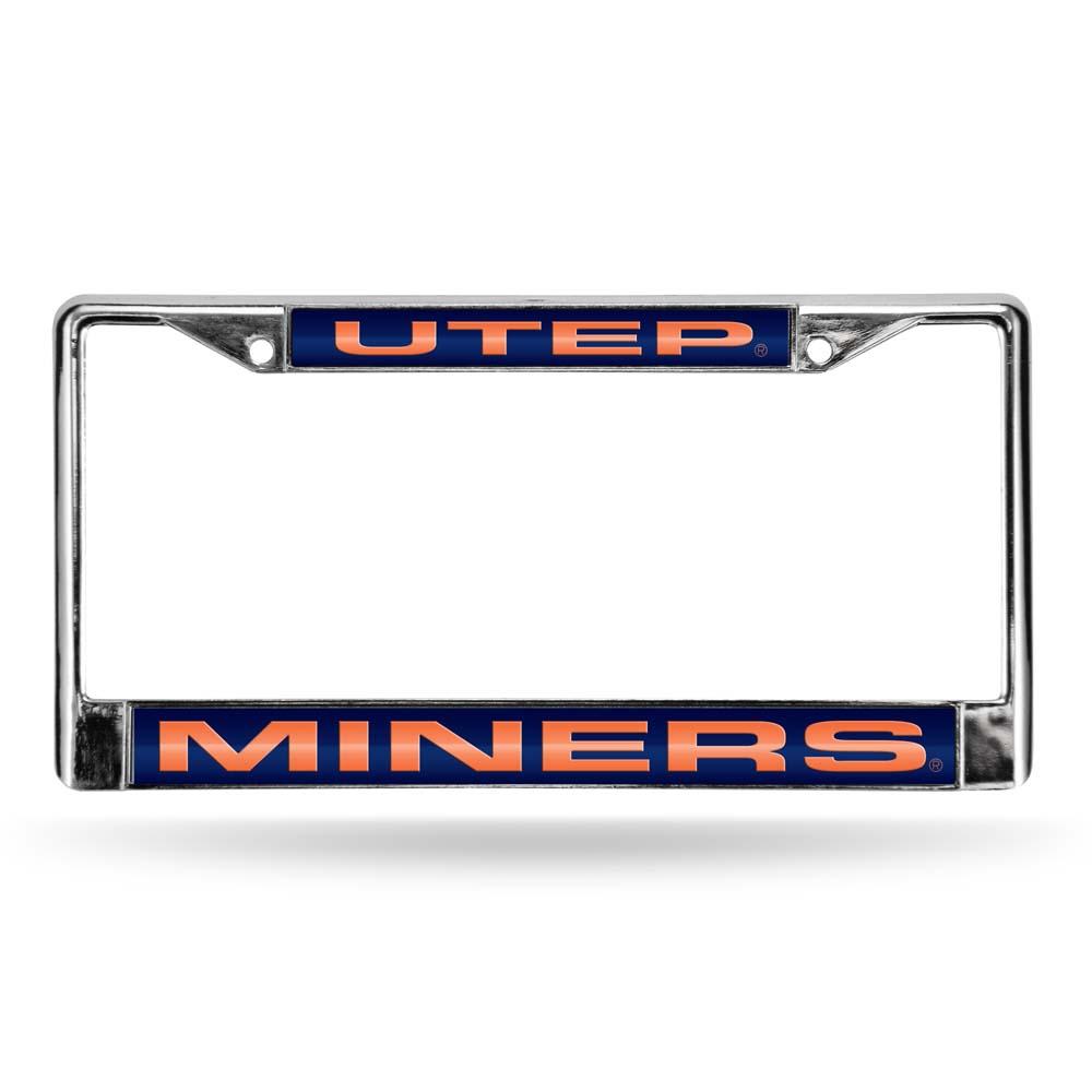 Texas El Paso Laser Etched Chrome License Plate Frame