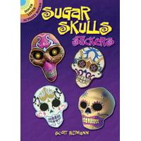 Dover Little Activity Books Stickers: Sugar Skulls Stickers (Paperback)