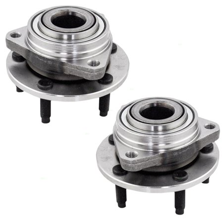 Pontiac G6 Wheel Hub - BROCK Wheel Hub Bearings Pair Set of Front Replacement for Chevrolet Malibu HHR Pontiac G6 Saturn Aura 15793213