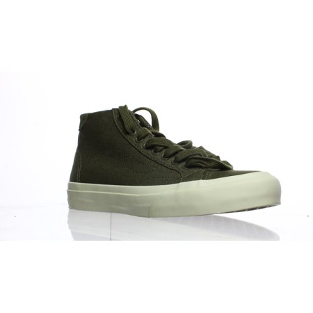 Vans Womens Court Mid Green Fashion Sneaker Size 5.5](Vans Sizing Chart)