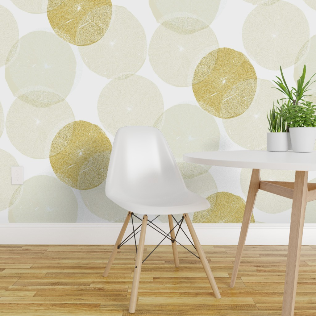 Wallpaper Roll Modern Round Flowers Floral Abstract Block 24in X