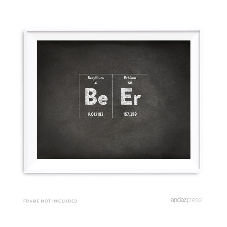 Beer Periodic Table of Elements Vintage Chalkboard Wall Art (Periodic Table Of Beer)