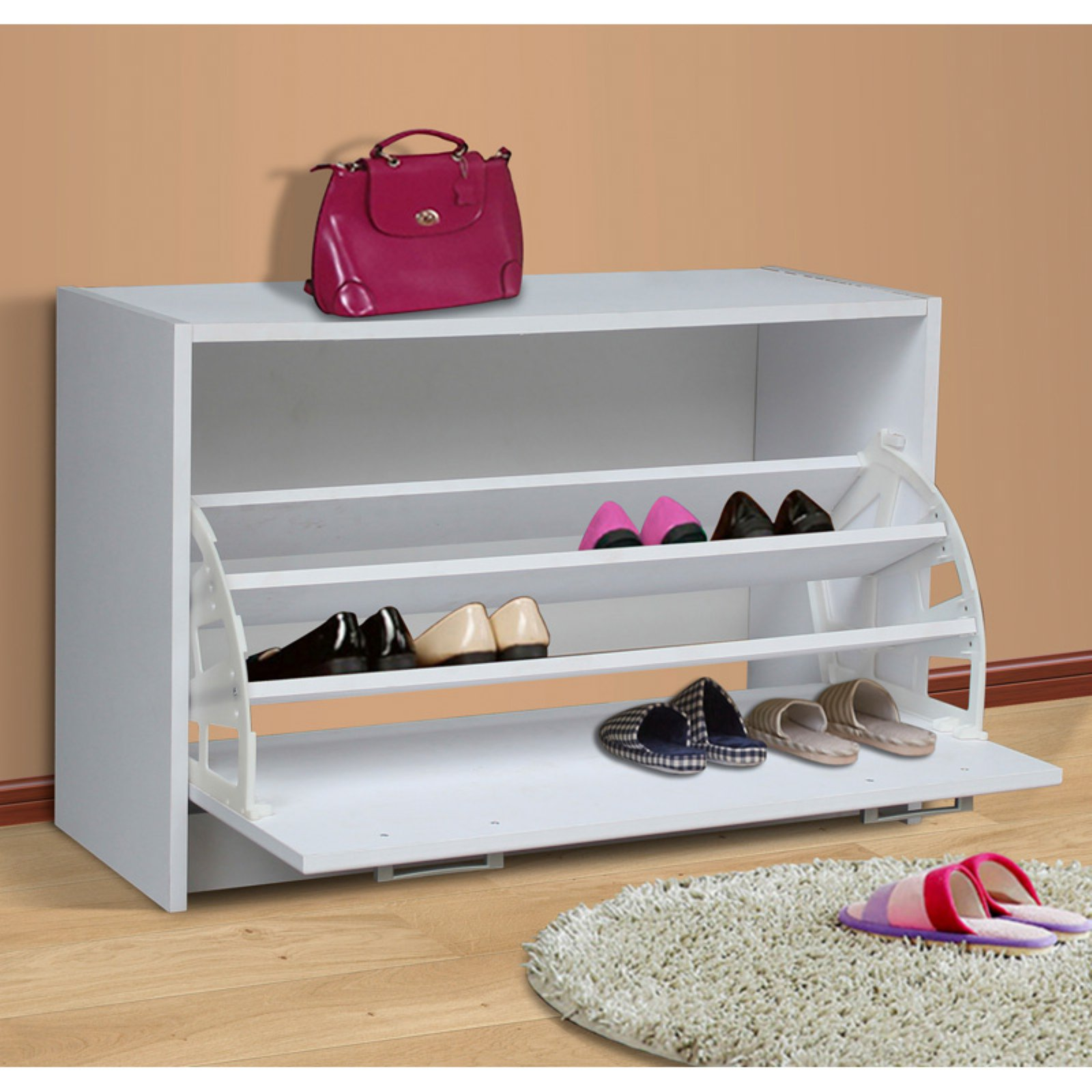 4D Concepts Deluxe Single Shoe Cabinet - White