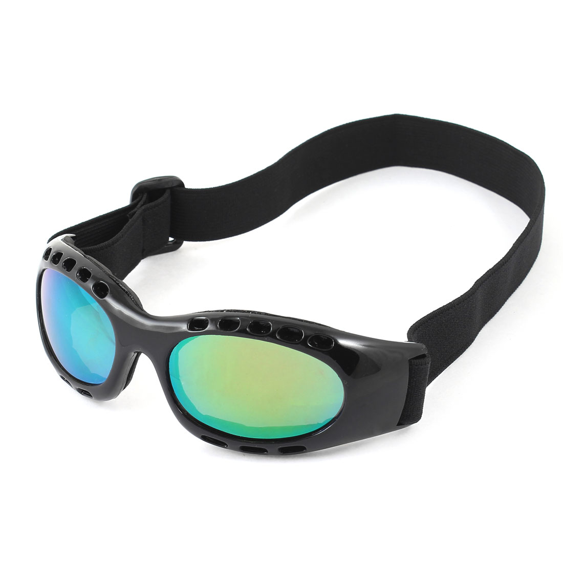 Man Woman Outdoor Sports Adjustable Band Ski Goggles Snowboard Glasses White Black by Unique-Bargains