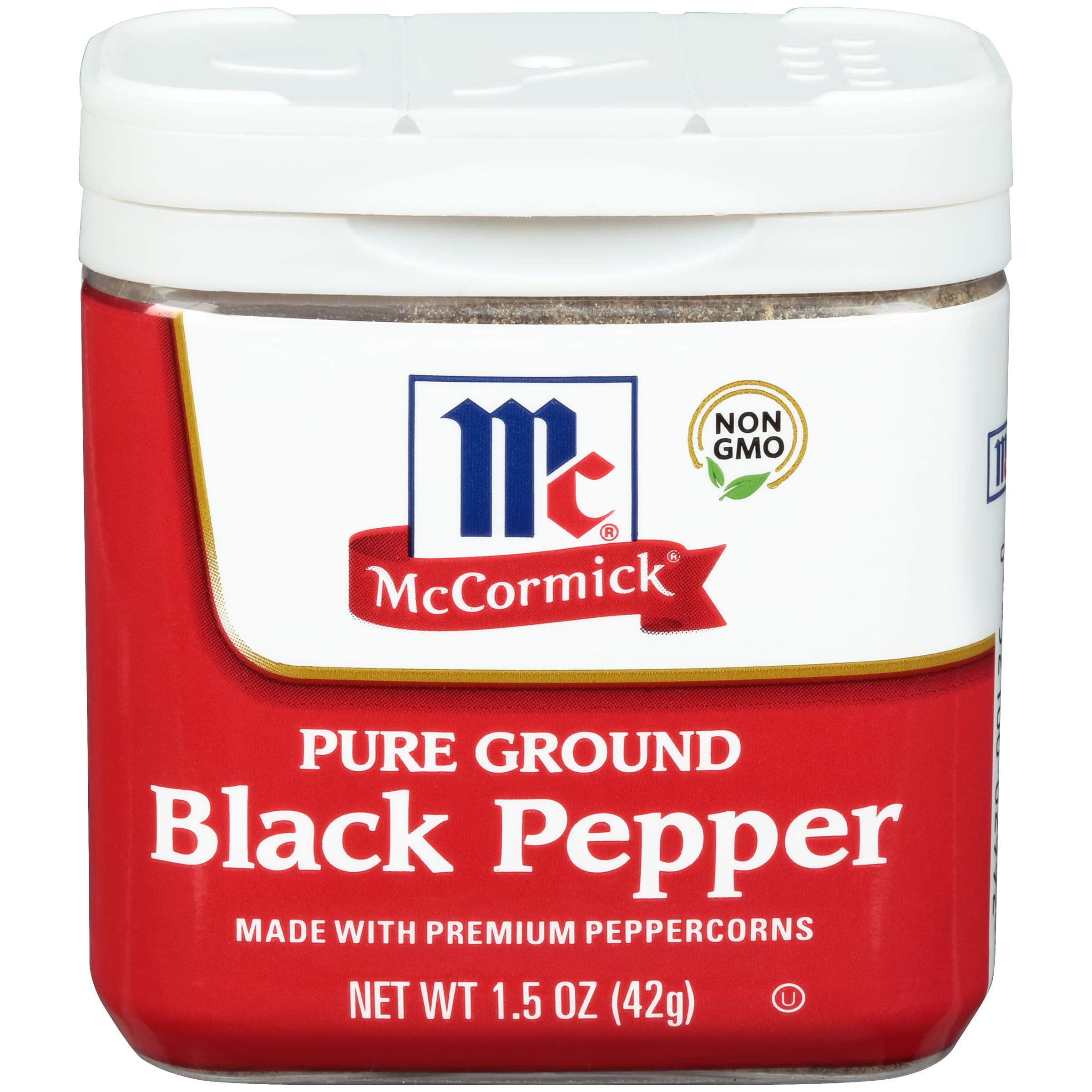 (3 Pack) McCormick® Ground Black Pepper, 1.5 oz