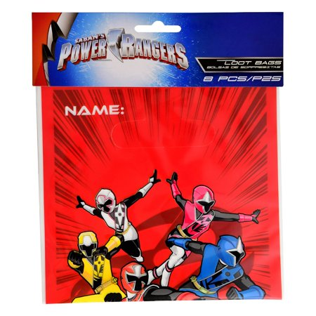 Power Rangers Invitations (Power Rangers 'Ninja Steel' Favor Bags)