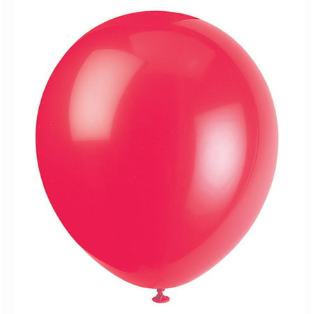 Latex Balloons, Red, 12in, 72ct - Red Minnie Mouse Balloons