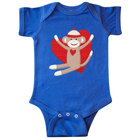 Hug Sock Monkey Infant Creeper (Sock Monkey Infant Clothes)