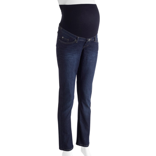 Oh! Mamma Maternity Full Panel Bootcut Jeans With Embellished Back Pockets