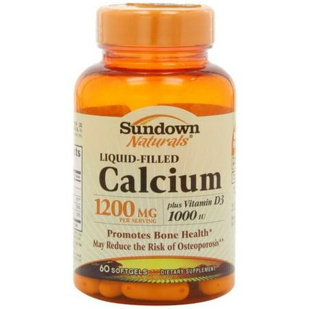 6 Pack - Sundown Calcium 1200 Plus D Liquid Filled Softgels 60 ea