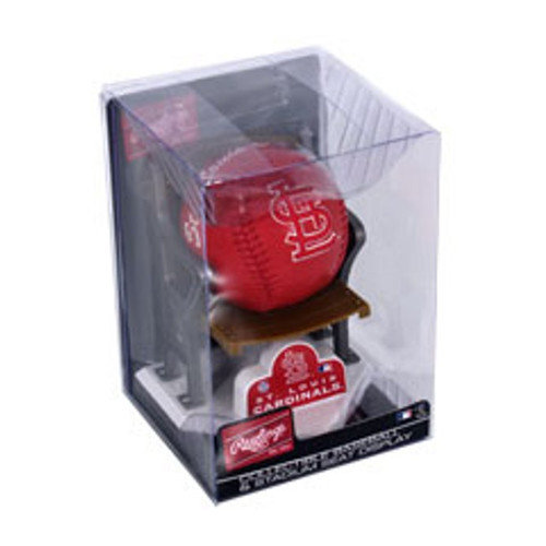 Collectible MLB Baseball & Stadium Seat Display - Carolinadinals Saint Louis Cardinals K2BBSSDSTL