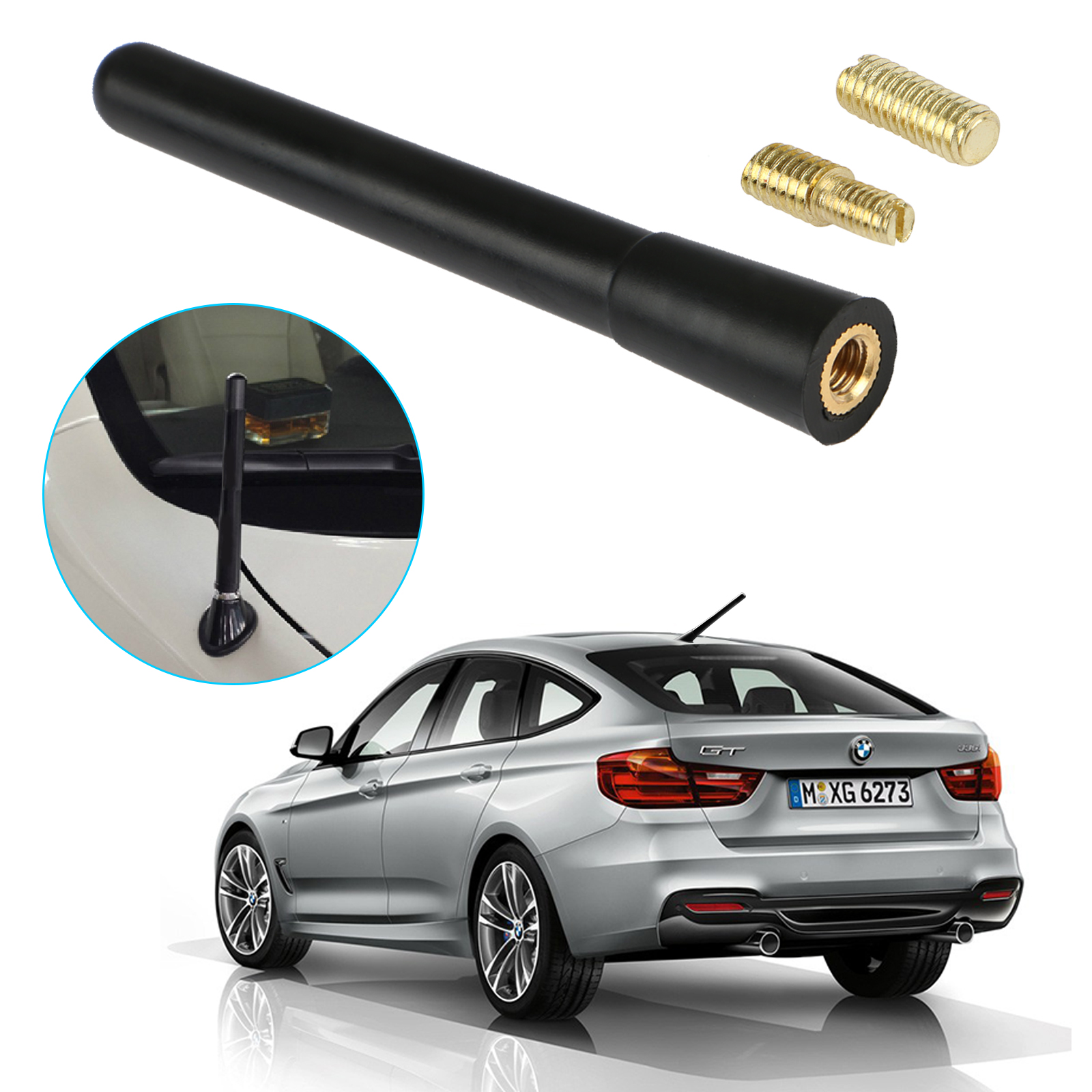 "3.7"" Universal Car Auto Short Vehicle AM/FM Radio Antenna Stubby Aerial Replacement"