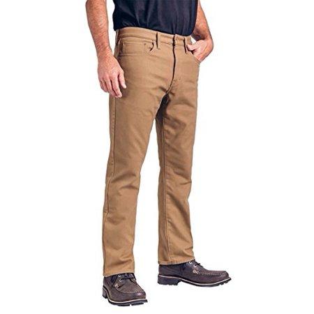 Weatherproof Vintage 1948 Fleece-Lined Jeans Classic Straight Leg (42W x 32L, Tan)