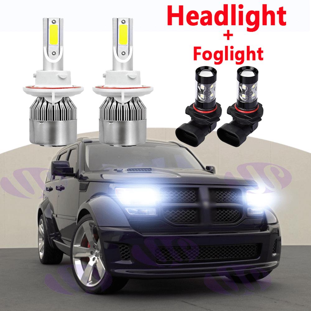 Black Friday 4pcs H13 Led Headlight Bulbs9145 Fog Light Bulb For Dodge Nitro 2007 2008 2009 White Walmart Com Walmart Com