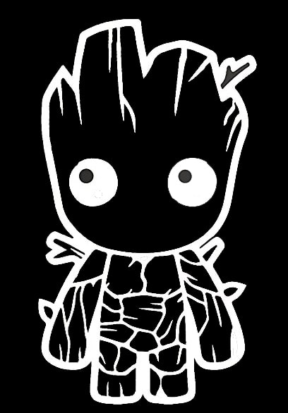 Baby Groot Guardians Of The Galaxy Inspired Decal Sticker