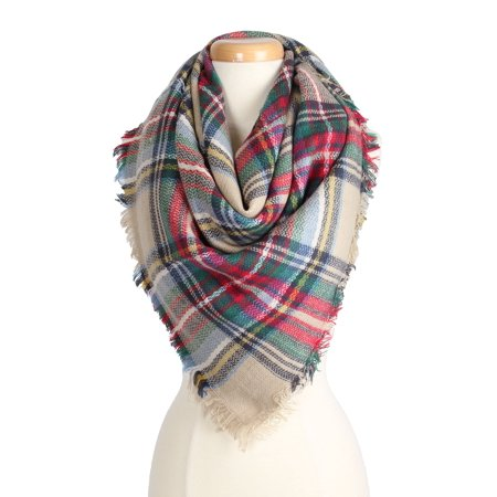 Women's Warm Plaid Pattern Tartan Multi Color Scarf for Cold Fall Winter Season for Women for $<!---->