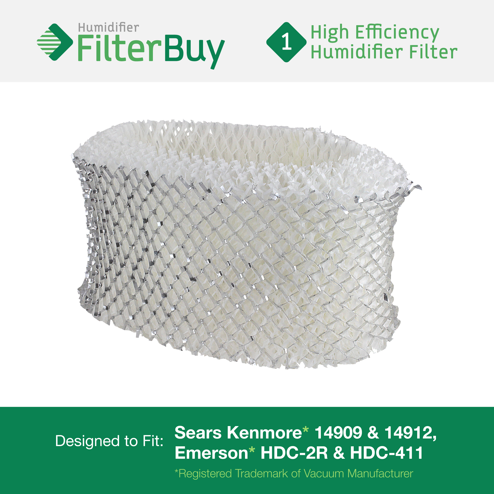 Holmes HWF62 Humidifier Filter. Replacement for part # HWF62, HWF62D, HWF-62. Fits Holmes Models HM1701, HM1761, HM1300 & HM1100. Designed by AFB in the USA.