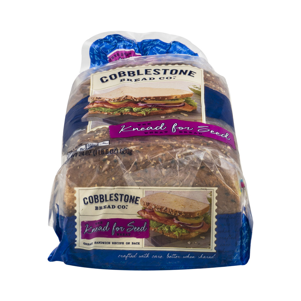 Cobblestone Bread Co. Wheat Bread The Knead for Seed, 24.0 OZ