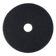 "Boardwalk Stripping Floor Pads, 12"" Diameter, Black, 5/Carton -BWK4012BLA"