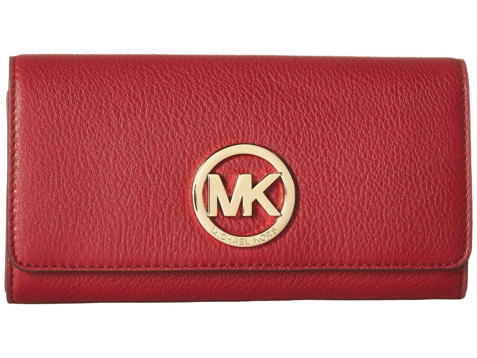d339979265f2 ... where can i buy michael kors fulton flap continental soft leather wallet  in sienna 158.00 aefdb