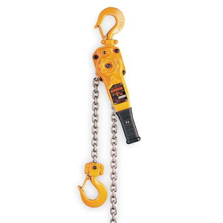 HARRINGTON LB008-10 Lever Chain Hoist, 1500 lb., Lift 10 ft. 5' Lift Lever Hoist