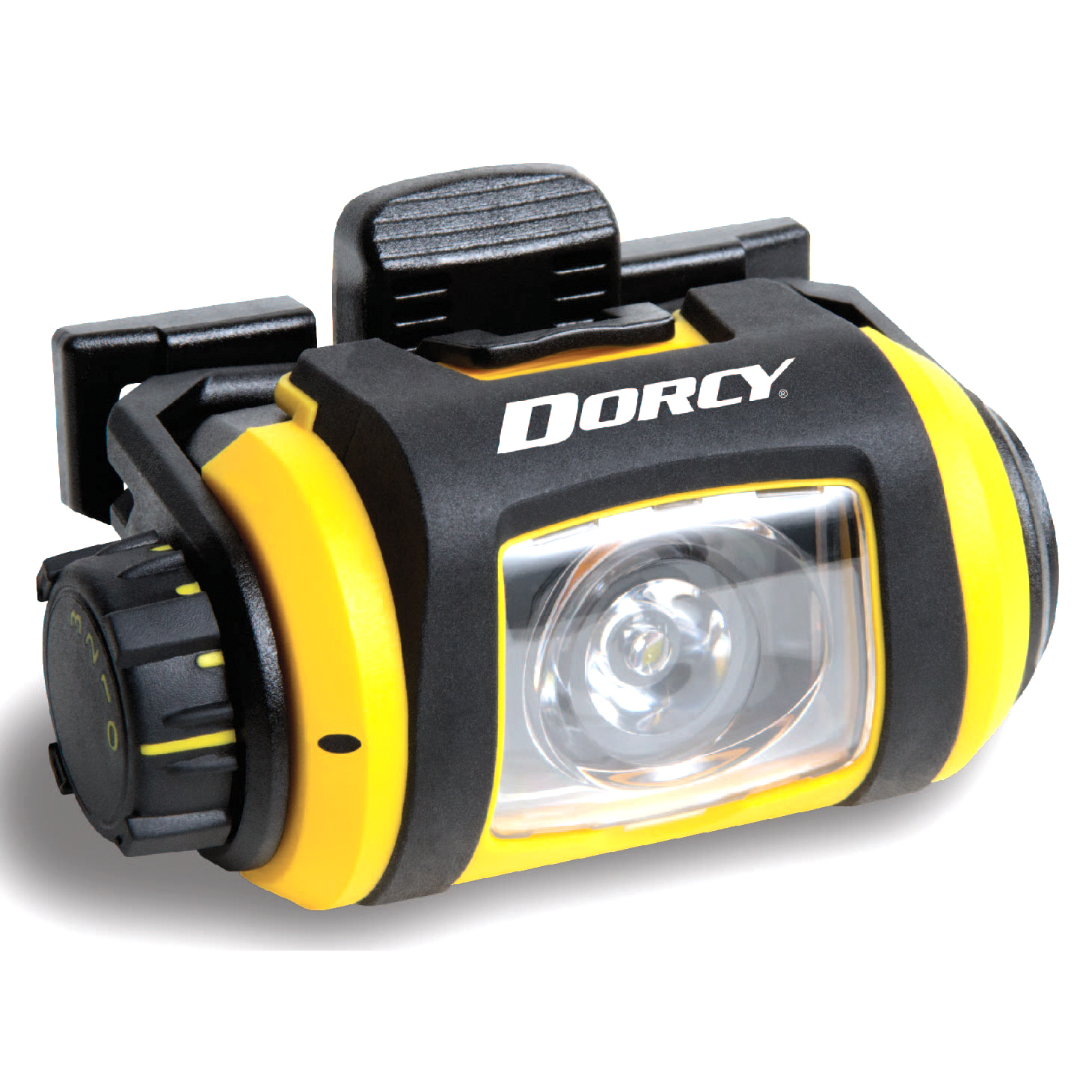 Dorcy Pro Series 200-Lumen Water Resistant LED Headlight with 180-Degree Swivel and 3 Brightness Levels, Yellow and Black (41-2612)