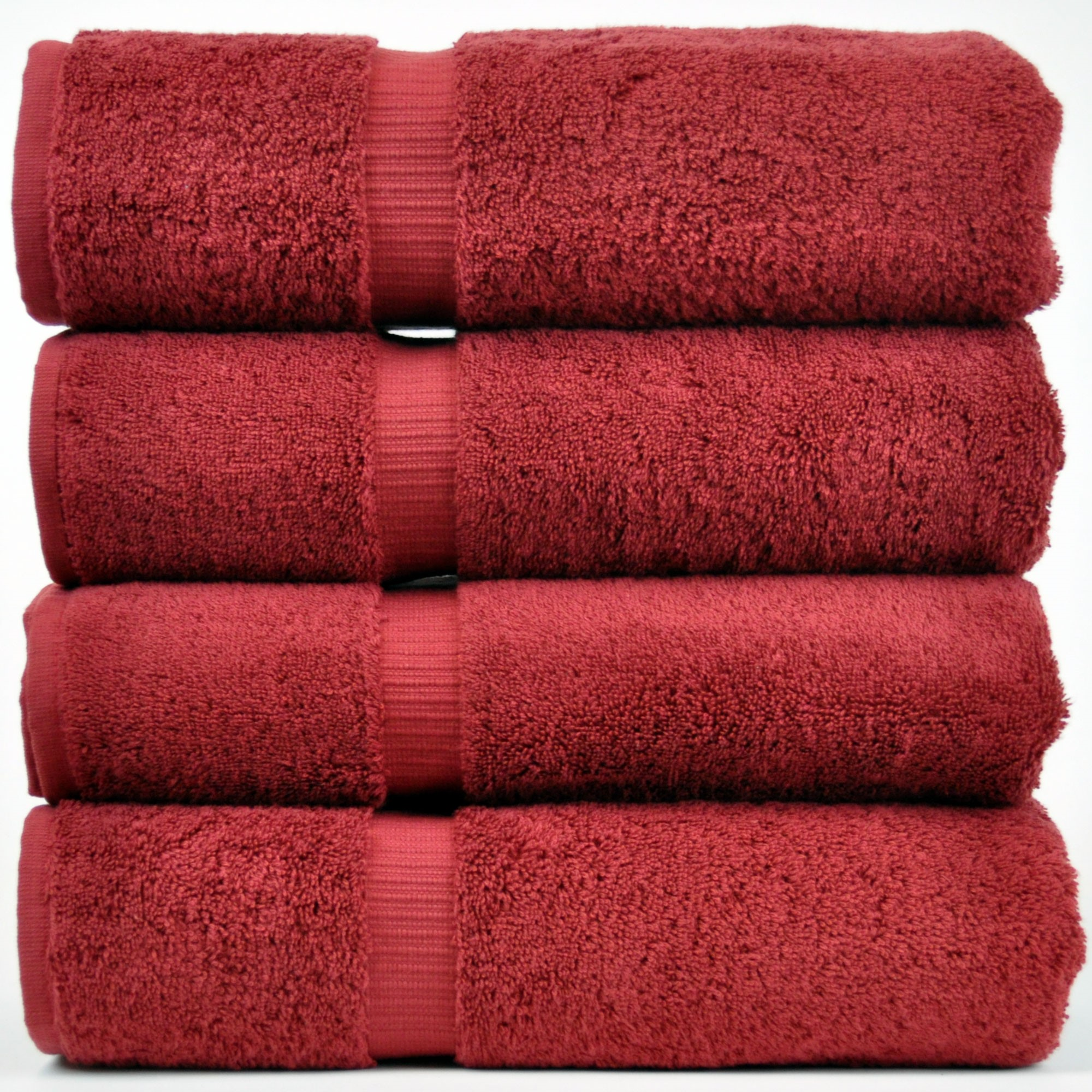 Chakir Linen Dobby Border Turkish Cotton Towel Set (Set of 4)