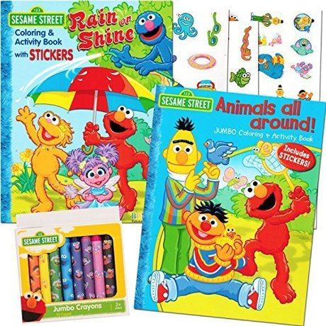 Sesame Street Coloring Book Super Set with Sesame Street Crayons ...