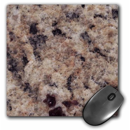 3Drose Napoli Venetian Gold Granite Print  Mouse Pad  8 By 8 Inches