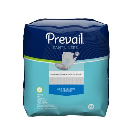 Prevail Pant Liner Elastic Small, 13.5'' x 6'' , 52 Count, 2 (Sanitary Pants Replacement Pads)
