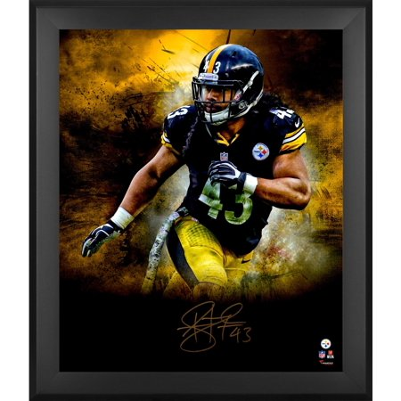 a42e7ac7e5b Troy Polamalu Pittsburgh Steelers Framed Autographed 20