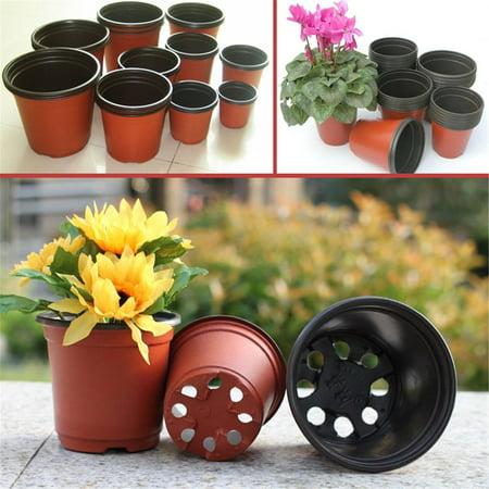 Meigar 100Pcs Plastic Garden Nursery Pots Flowerpot Seedlings Planter Containers Set (Garden Nursery)