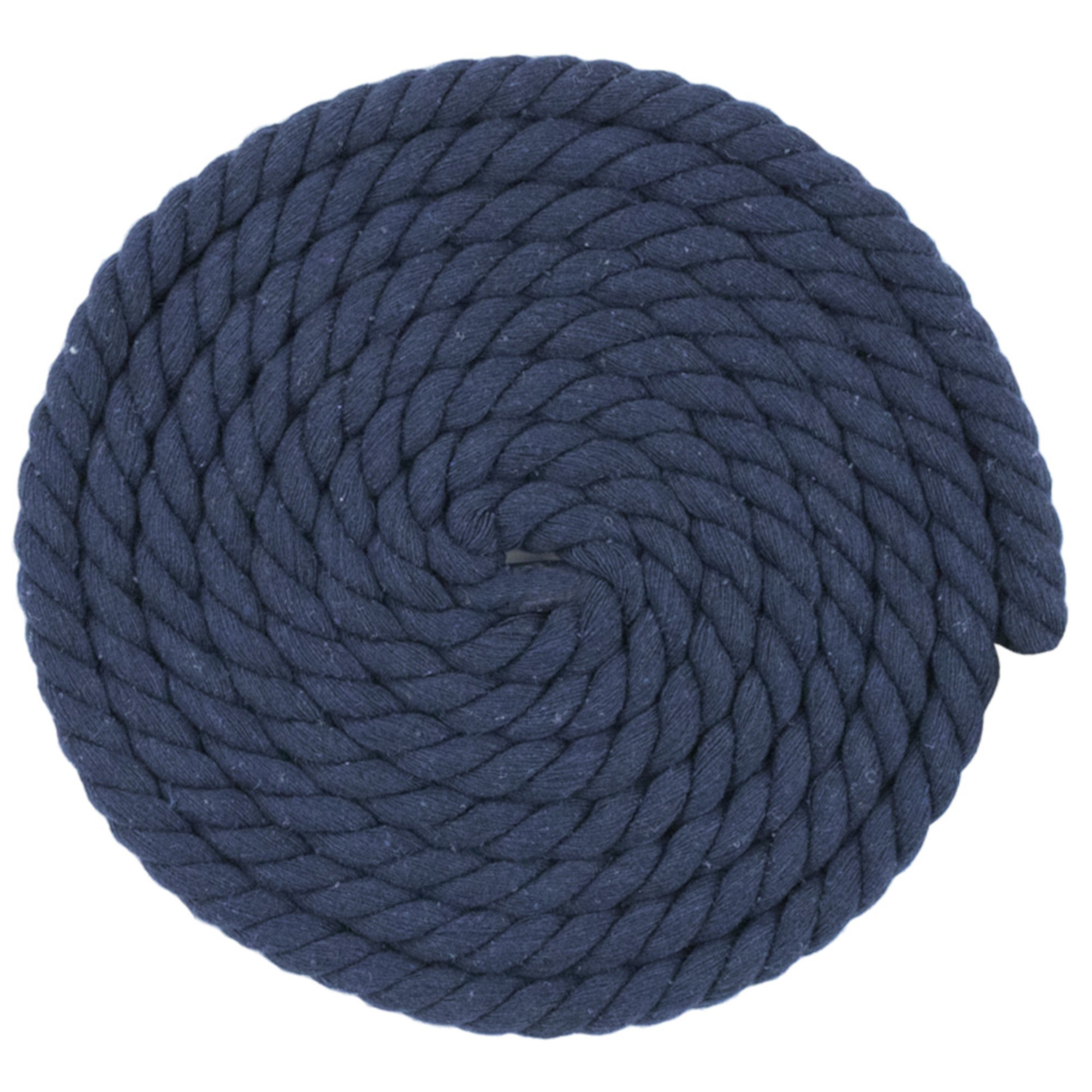 WCP 1/2 Inch Thick Super Soft Artisan Decorative Twisted 100% Cotton Rope - Navy