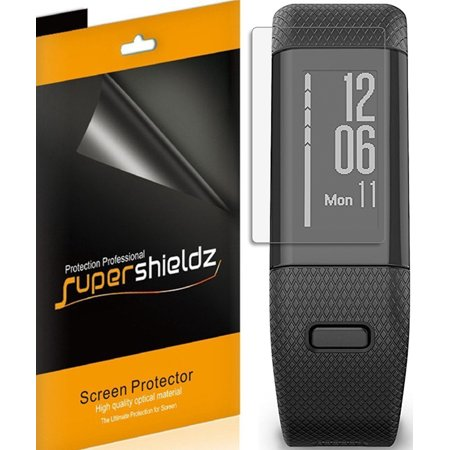 [6-Pack] Supershieldz Garmin vivosmart HR+ / Approach X40  Screen Protector, [Full Screen Coverage] Anti-Bubble High Definition (HD) Clear Shield