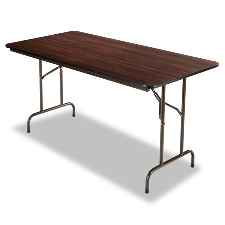 Rectangular Walnut Folding Table - Alera Wood Folding Table, Rectangular, 60w x 29 3/4d x 29h, Walnut