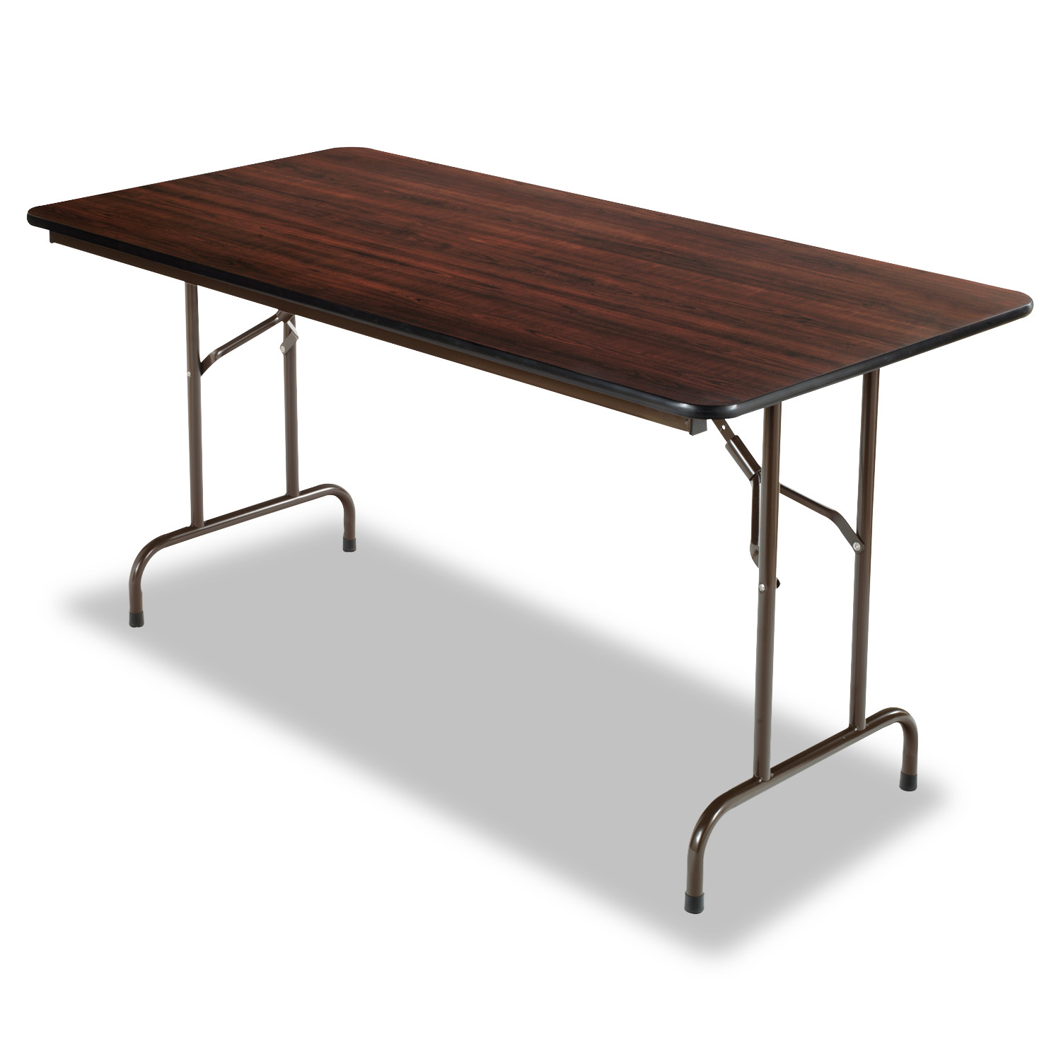 Alera Wood Folding Table, Rectangular, 60w x 29 3/4d x 29h, Walnut