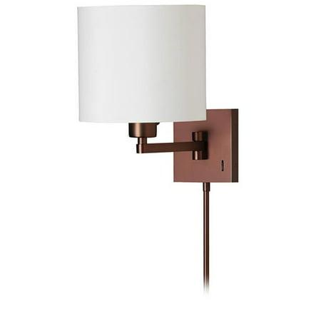 1 Light Cast Metal Swing Arm Lamp - Oil Brushed Bronze